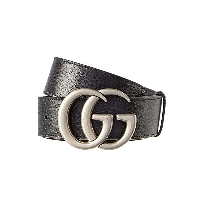 298a87e69 Generic Black siilvertone GG Gucci leather belt @ Best Price Online ...
