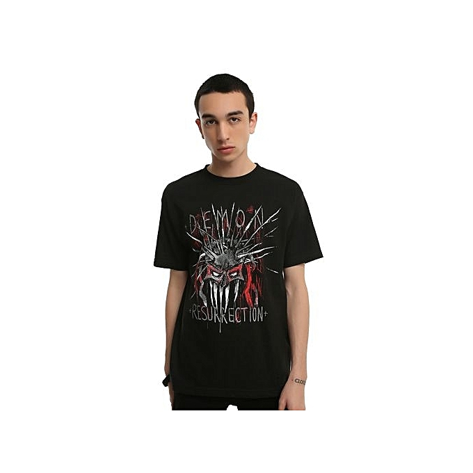 14f88d15782 Youth Demon Resurrection Mens Clothes Funny T Shirts Custom Printed Cotton  O Neck Dress Casual Summer