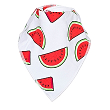 White & Red Melon Baby Bandana Drool Bib