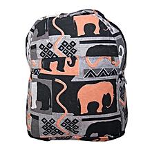 Durable cotton trendy school bag- african print