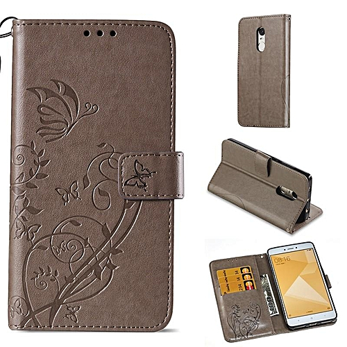 buy online 9d443 118ed PU Leather Embossing Wallet Case Cover for Xiaomi Redmi Note 4X / Redmi  Note 4