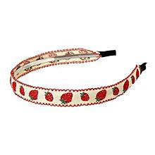 YOINS Hair Accessories Cotton Embroidery Hoop Hair Thorn Strawberry Hair Headdress