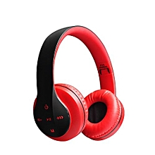 Big Wireless Bluetooth 4.0 Stereo Headphone Headset Earphone For Mobile Phones P35 - Red