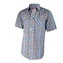 Grey Checked Men's Shirt- Freestyle Streetwear