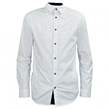 White Men's Long Sleeved Formal Shirts