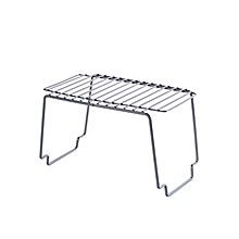 Japanese-style simple carbon steel kitchen and bathroom stacking rack