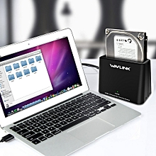 Wavlink WL-ST333U USB 3.0 to SATA Single Bay 6TB Hard Drive Enclosure for 2.5/3.5inch HDD SSD  EU PLUG