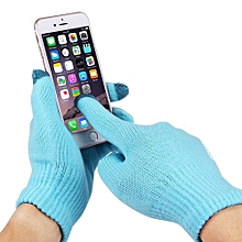 Three Fingers Touch Screen Gloves For Men, For IPhone, Galaxy, Huawei, Xiaomi, HTC, Sony, LG And Other Touch Screen Devices(Blue)