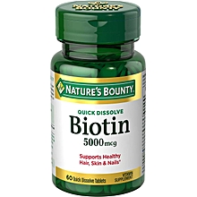 Biotin 5000mcg Hair Growth