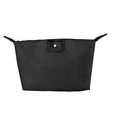 UJ Candy Color Ladies Make-Up Folding Handbag Storage Waterproof Wallet Travel Bag-black