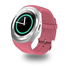 Y1 - Smart Phone Watch - Pink/Silver