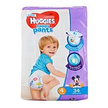 Nappy Pants Boy Size 4 9-14 kg 34 Pieces