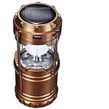 Led rechargeable Multifunctional Solar Camping Lamp - Bronze
