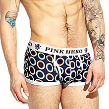 Mens Boxer Underpants Knickers Sexy Men's Boxer Briefs Shorts Underwear Pants-(BLACK)