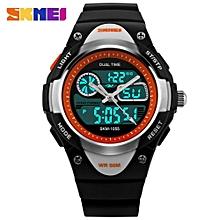 Skmei Children Watch 2 Time Zone Digital Quartz Waterproof Kids Boys Girls Watches Casual Sports LED Dress Cool Children's Wristwatch 1055