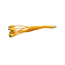 Multiple charger cable-yellow
