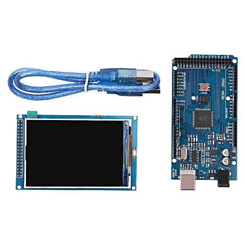 3 5 Inches TFT LCD Screen Module 3 3V/5V ILI9486/ILI9488 Ultra HD 320*480  for arduino Compatible with MEGA 2560 R3 Board with USB Cable
