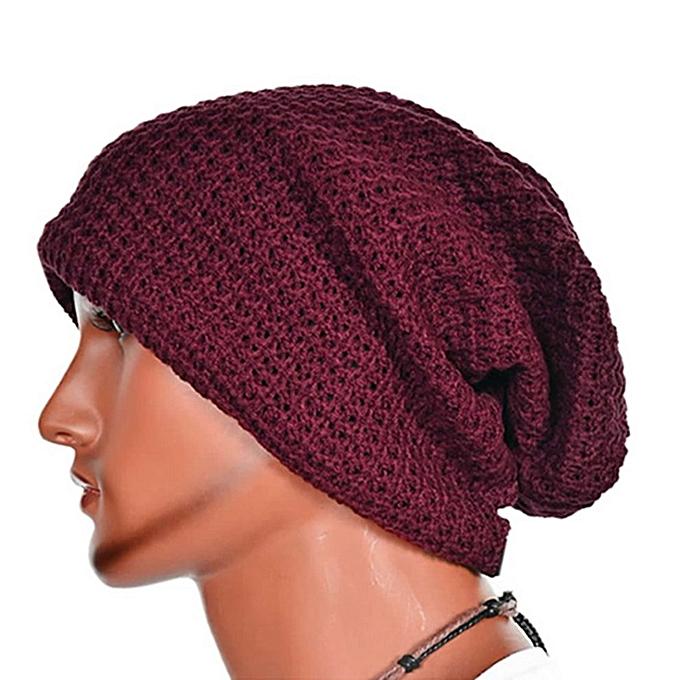 4f423c65208b8 Fashion Warm Fashion Men Winter Knit Ski Beanie Slouchy Oversize Cap ...