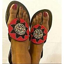 Maasai Leather Beaded Sandals