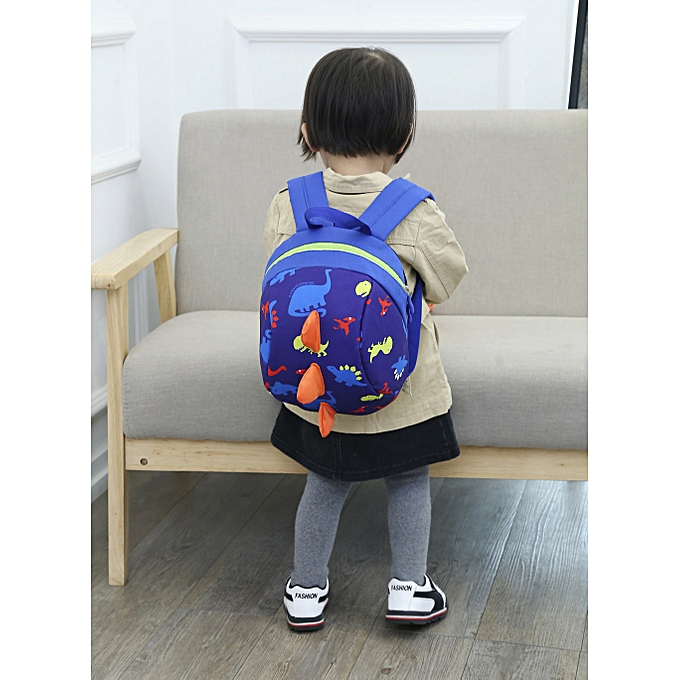 ... Xingbiaocao Baby Boys Girls Kids Dinosaur Pattern Animals Backpack  Toddler School Bag -Dark Blue ... 0cf982ac113ef