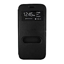Cover For INFINIX Hot 4 (X557) Double Window Flip Cover - Black