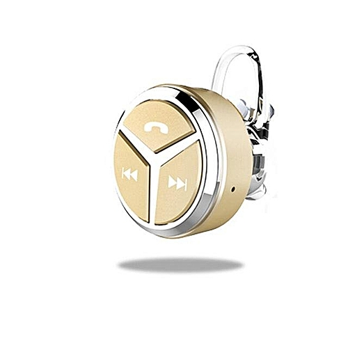 Bluetooth Headphones, Q5 Mini Stereo Binaural Bluetooth Headset Earphone 4.1 Handsfree Universal(Gold)