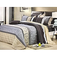 High Quality Duvet with 2 Pillow cases and Bed sheet Multicolor 5*6