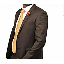 Men chocolate brown official suit suitable for office wear