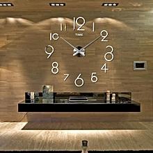 Wall Clock Living Room DIY 3D Home Decoration Mirror Large Art Design SL-Silver
