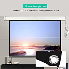 60-100inch 16:9 HD Projector Screen 3D Film Portable Screen Curtains (100in)