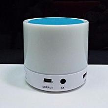 S71U Touch LED Light Mini Bluetooth Speaker with TF USB Surround loud Speaker wireless Speaker(Blue)