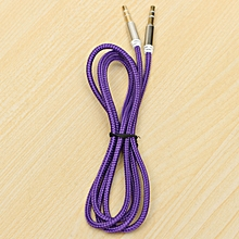 3.5mm Male To Male Car Aux Auxiliary Cord Stereo Audio Cable For Phone IPod Purple