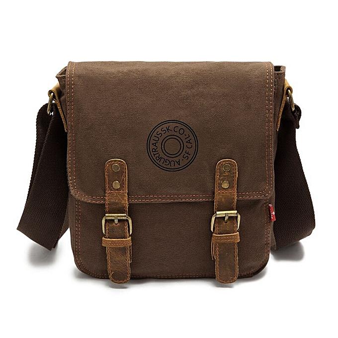 big sale 1a0a1 1c367 Augur Canvas Vintage Men Bag Briefcase Cross Body Business Shoulder Bags  Mystic Messenger Tool Bag Cell Phone Pocket Satchels(coffee)