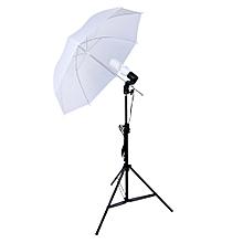 Shoot Set 33 inch LambenUmbrella + 2M Light Support + Single Lamp US Plug - Black + White