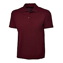 Maroon fitted polo shirt