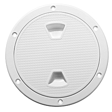 New 6'' ABS White Round Deck Inspection Hatch Marine Screw Out Boat Access