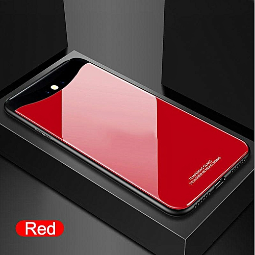 purchase cheap 68a0c 6e06e Glass Case For OPPO Find X Case Full Protection Tempered Glass Back Cover  For OPPO Find X Housing (Red)