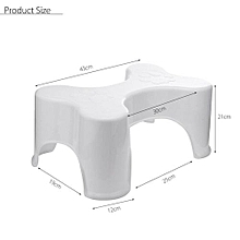 "9"" Bathroom Toilet Footstep Stool Poop Squat Healthy Ergonomic Relief Kid Aid"