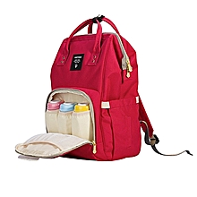 Portable Baby Diaper Bag for Travel - red