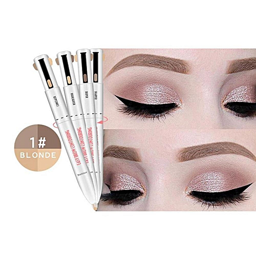 8a90c8298cab Generic 4-in-1 Easy to Wear Eyebrow Contour Natural Long Lasting Paint Pen  Defining Brow Eyebrow Outline Pen Eyebrow Pencil Dye Makeup(A)