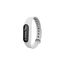 Bluetooth  IP67 Smart Bracelet Fitness Activity Tracker Anti-lost Call SMS Reminder - White