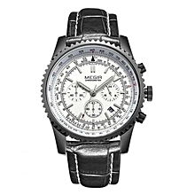 Black Strap Tachymeter Chronometer Watch With Gift Box