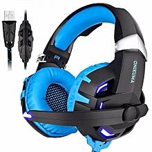 Enjoy ONIKUMA K2 USB 7.1 Channel Sound Stereo Gaming Headphones Casque Gamer Headset with Mic LED Light