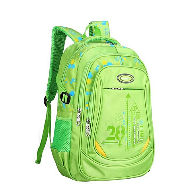 70138240541b Kids Nylon Large Backpack Children School Bag for Middle Primary School  Student Green
