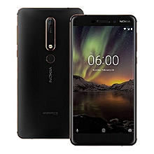 "NOKIA 6.1 – 5.5"" - 32GB ROM – 3GB RAM – 16MP Camera – Dual SIM – Black Copper"