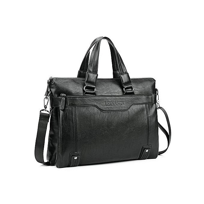 Men Handbags Fashion Business Men Briefcase Bag Pu Leather Laptop Bag  Casual Zipper Design Man Handbag a0f6dc047e0f1