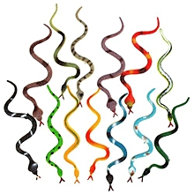 12PCS Plastic Snake Reptile Figures Goody Loot Kids Party Bag Fillers Favor Toy
