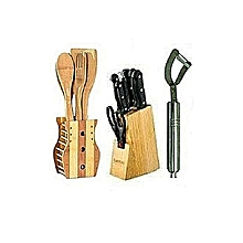 Kitchen Knife Set, Wooden Spoons   Potato Peeler