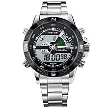 b9af8c007 WEIDE WH1104 Men  039 s Big ScreBacklight Dual Time Date Alarm Stop Analog  Digit
