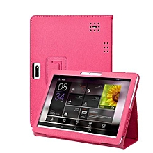 Universal Folio Leather Stand Cover Case For 10 10.1 Inch Android Tablet PC-Hot Pink